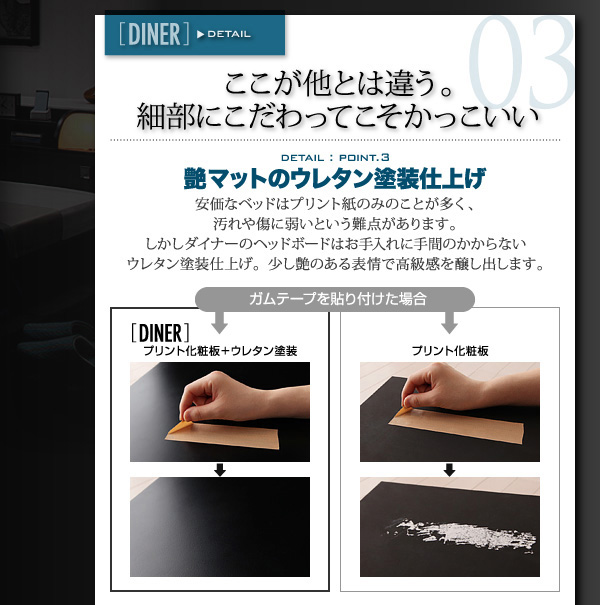 照明・コンセント付きフロアベッド Diner ダイナー:商品説明7