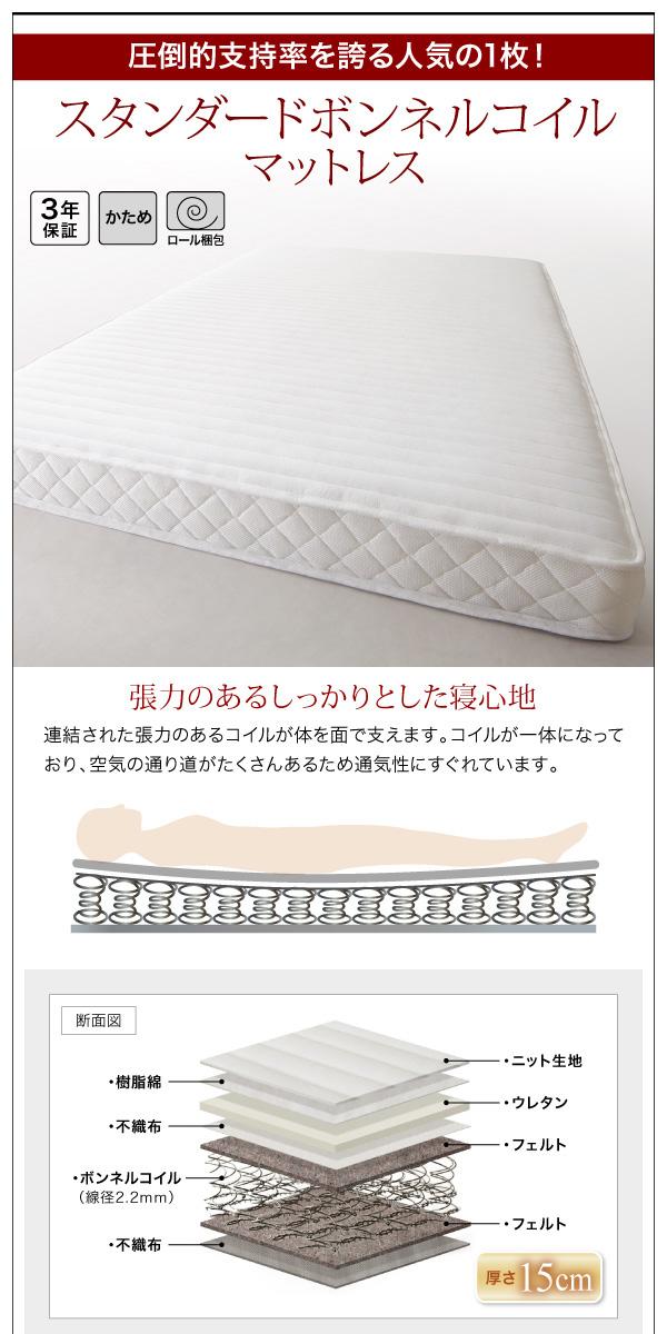 棚・コンセント付きバイカラーデザインフロアベッド DOUBLE-Wood ダブルウッド:商品説明14