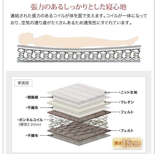 フロアローベッド【Makati】マカティ:商品説明13