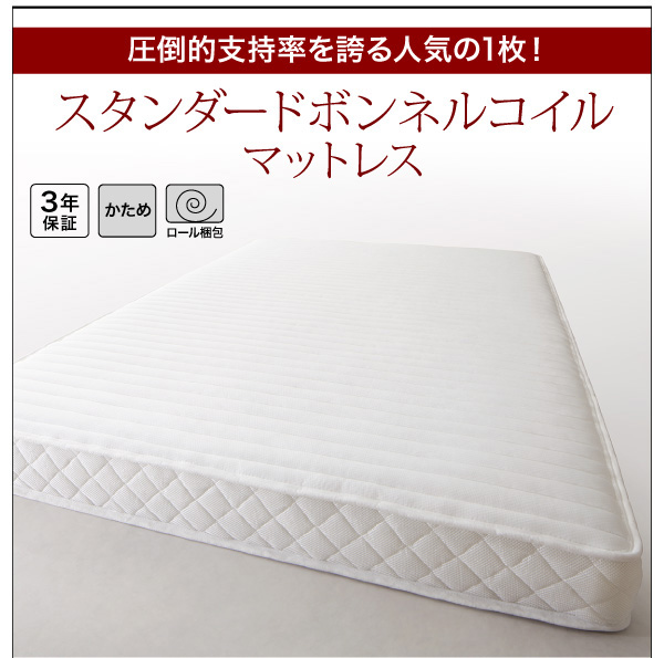 シンプルモダンデザインフロアローステージベッド Renita レニータ:商品説明14