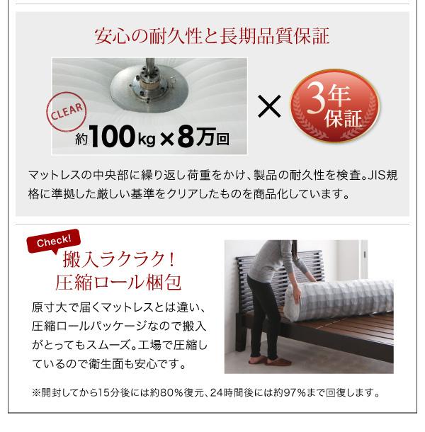 シンプルモダンデザインフロアローステージベッド Renita レニータ:商品説明17