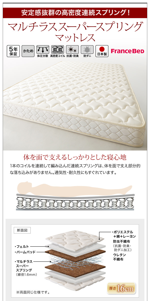 国産収納ベッド【Rhino】ライノ:商品説明27