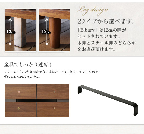 デザインボードベッド【Bibury】ビブリー:商品説明8