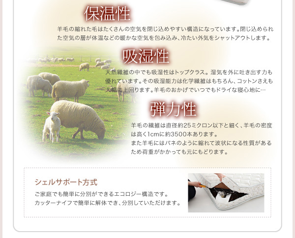 ハイヘッドデザインすのこベッド【Brat】ブラート:商品説明33