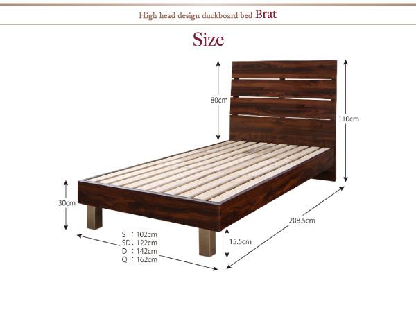 ハイヘッドデザインすのこベッド【Brat】ブラート:商品説明37