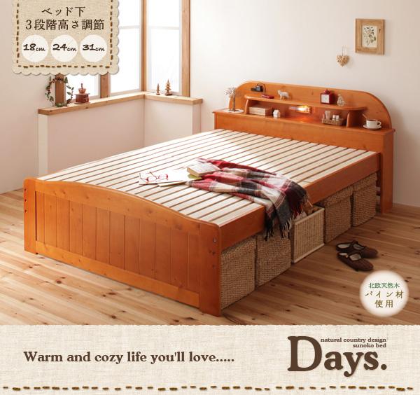天然木すのこベッド【Days.】デイズ:商品説明1