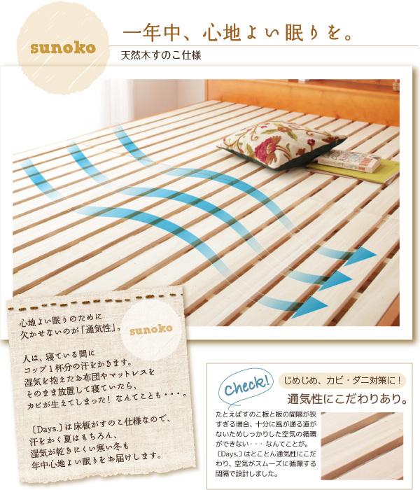 天然木すのこベッド【Days.】デイズ:商品説明5