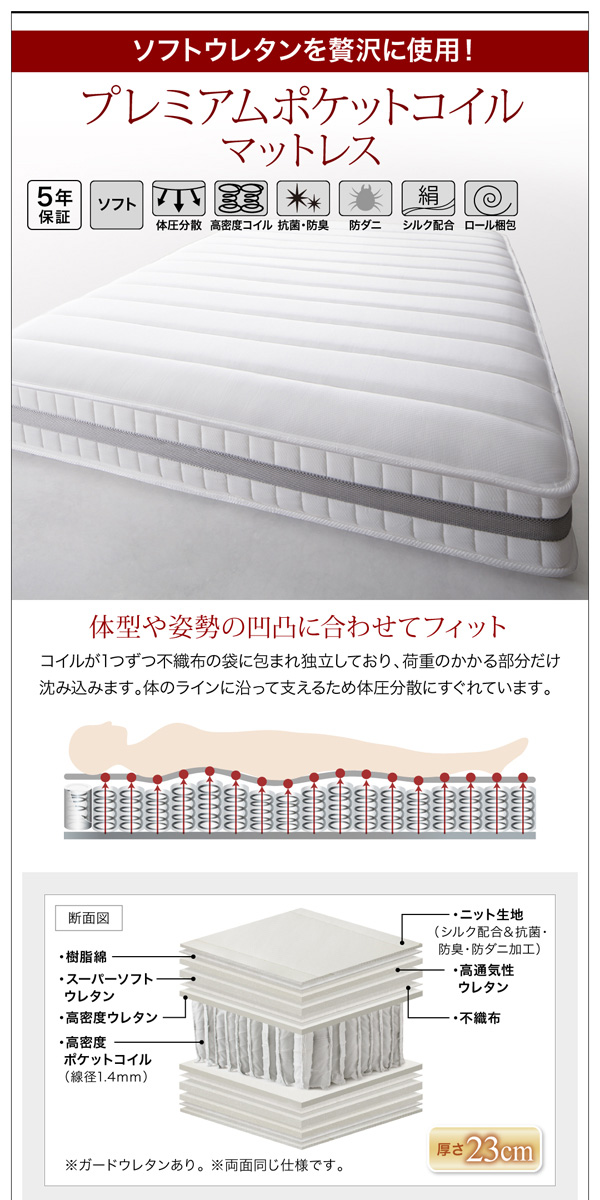 収納ベッド【Kercus】ケークス:商品説明19