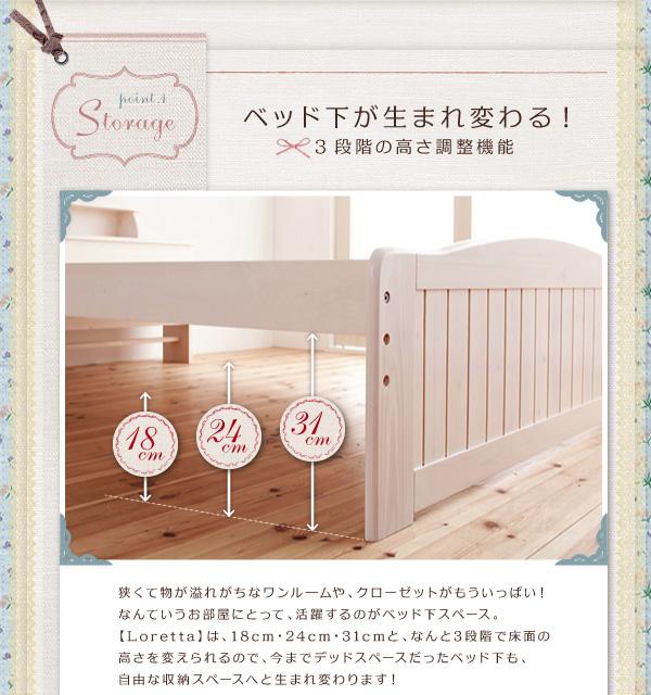 天然木すのこベッド【Loretta】ロレッタ:商品説明3