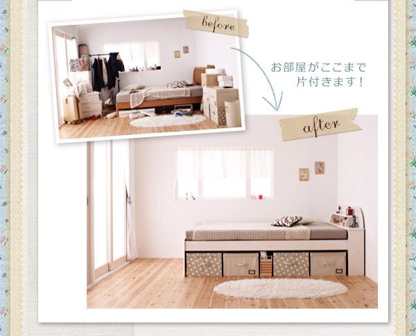 天然木すのこベッド【Loretta】ロレッタ:商品説明13