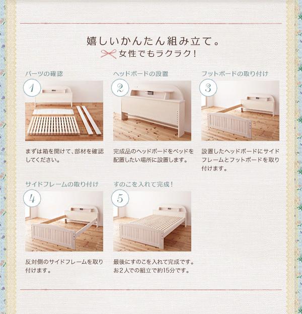 天然木すのこベッド【Loretta】ロレッタ:商品説明17