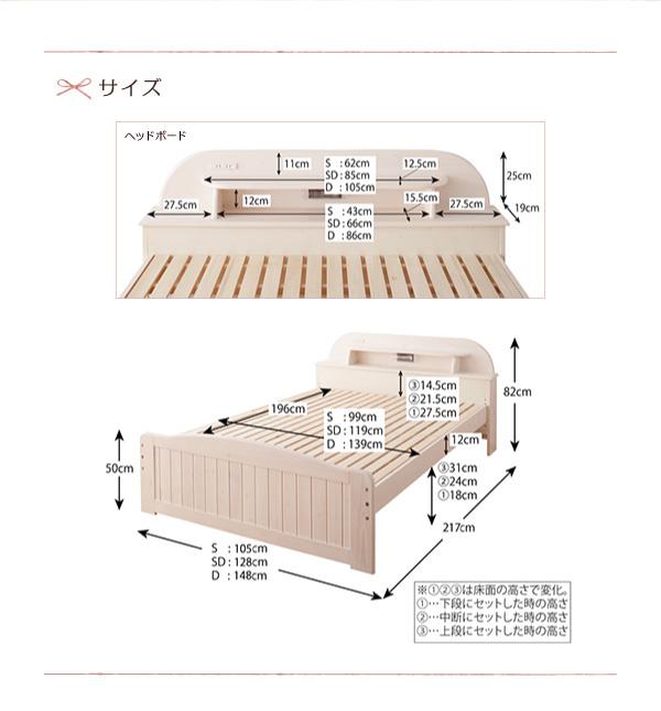 天然木すのこベッド【Loretta】ロレッタ:商品説明19