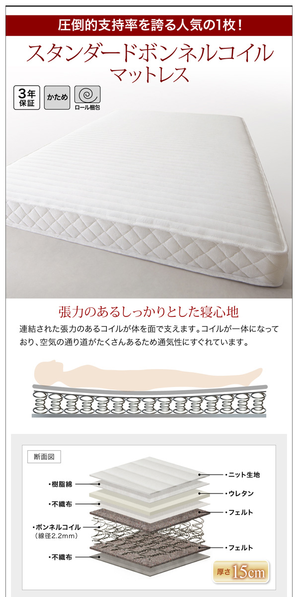 収納ベッド【Milliald】ミリアルド:商品説明16