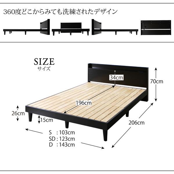 棚・コンセント付きデザインすのこベッド【Morgent】モーゲント:商品説明12