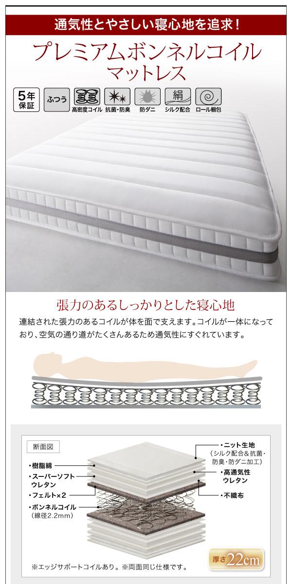 棚・コンセント付きデザインすのこベッド【Morgent】モーゲント:商品説明18