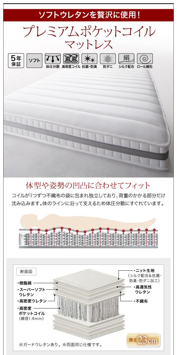 棚・コンセント付きデザインすのこベッド【Morgent】モーゲント:商品説明10
