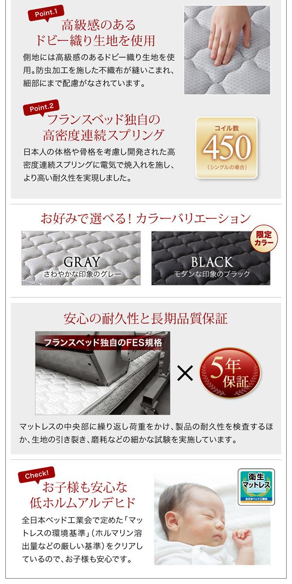 デザイン収納ベッド【Scharf】シャルフ:商品説明34