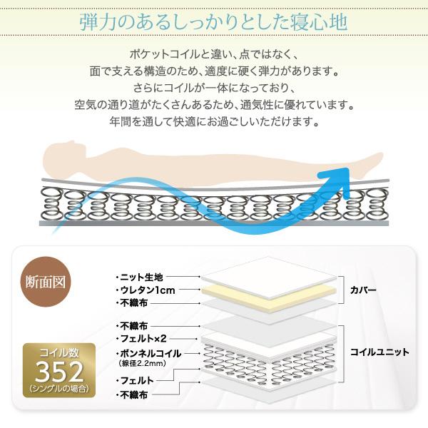ベーシック脚付きマットレスベッド:商品説明12