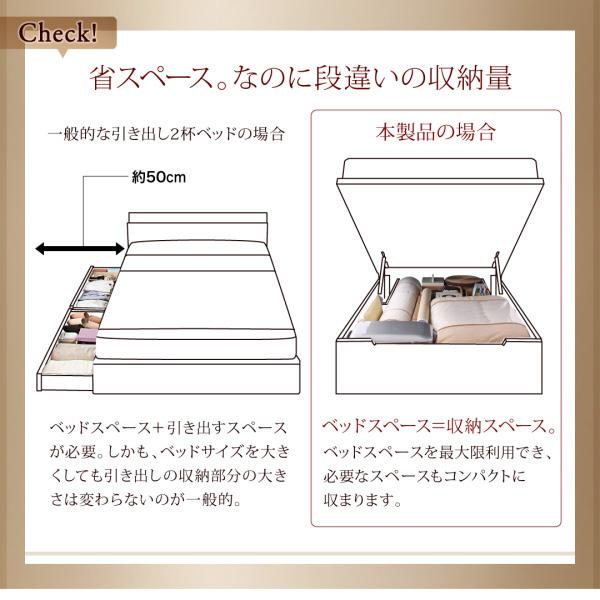国産跳ね上げ収納ベッド【Clory】クローリー:商品説明4