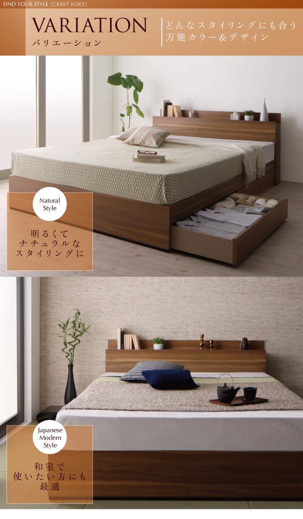 モダンライト・コンセント付き収納ベッド【Crest fort】クレストフォート:商品説明8