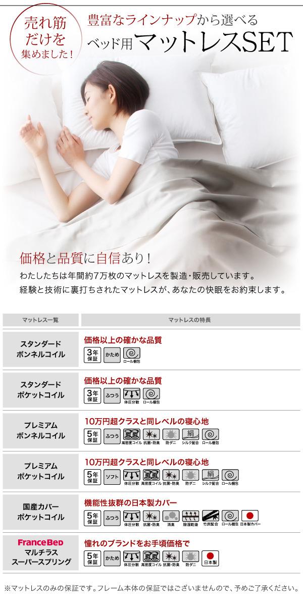 モダンライト・コンセント付き収納ベッド【Crest fort】クレストフォート:商品説明9