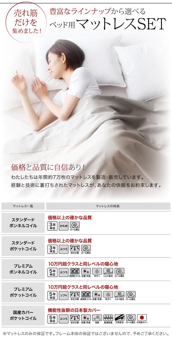 LEDライト・コンセント付き収納ベッド【Estado】エスタード:商品説明10