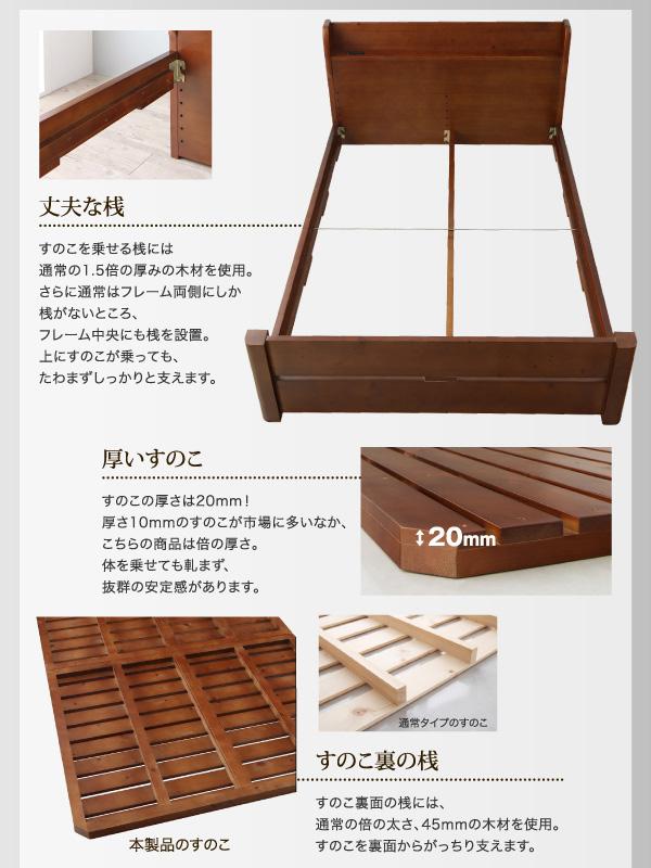 頑丈天然木すのこベッド【ishuruto】イシュルト:商品説明9