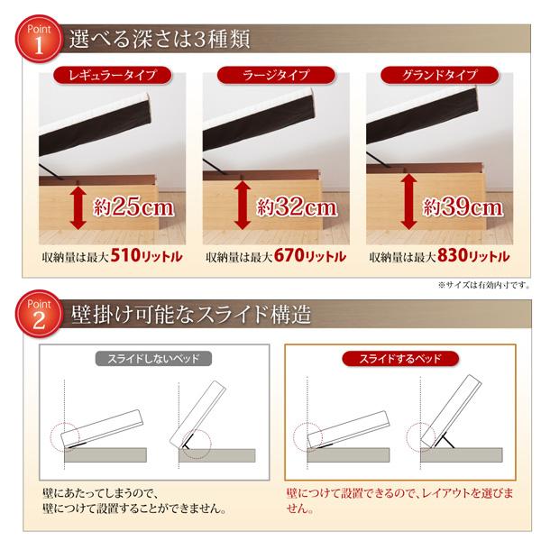 ガス圧式大容量跳ね上げベッド【Prostor】プロストル:商品説明6
