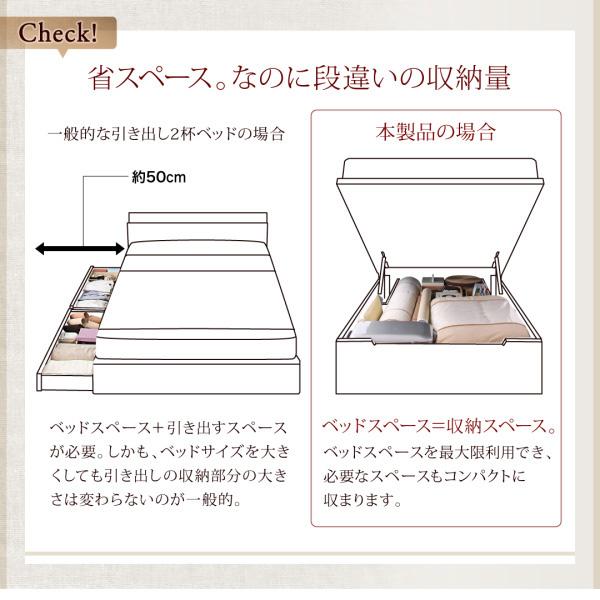 国産跳ね上げ収納ベッド【Regless】リグレス:商品説明4