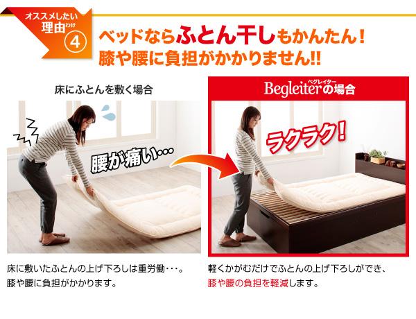 ガス圧式跳ね上げ収納ベッド【Begleiter】ベグレイター:商品説明8