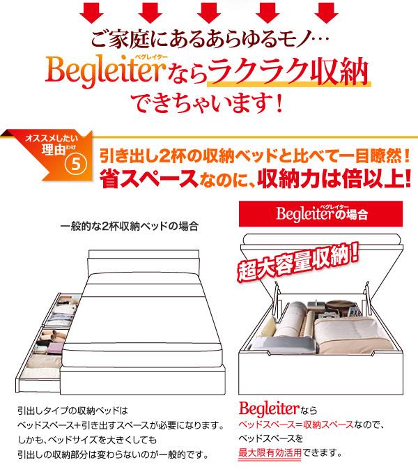ガス圧式跳ね上げ収納ベッド【Begleiter】ベグレイター:商品説明11