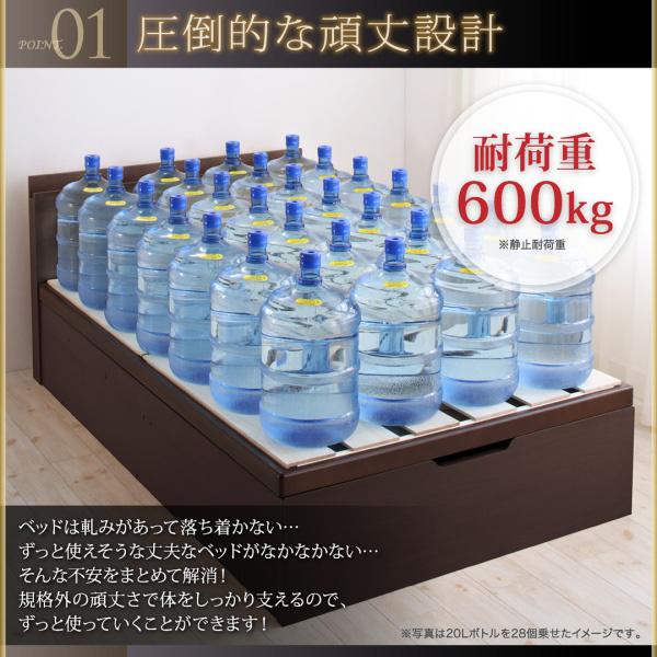 国産大容量跳ね上げ収納ベッド【BERG】ベルグ:商品説明3