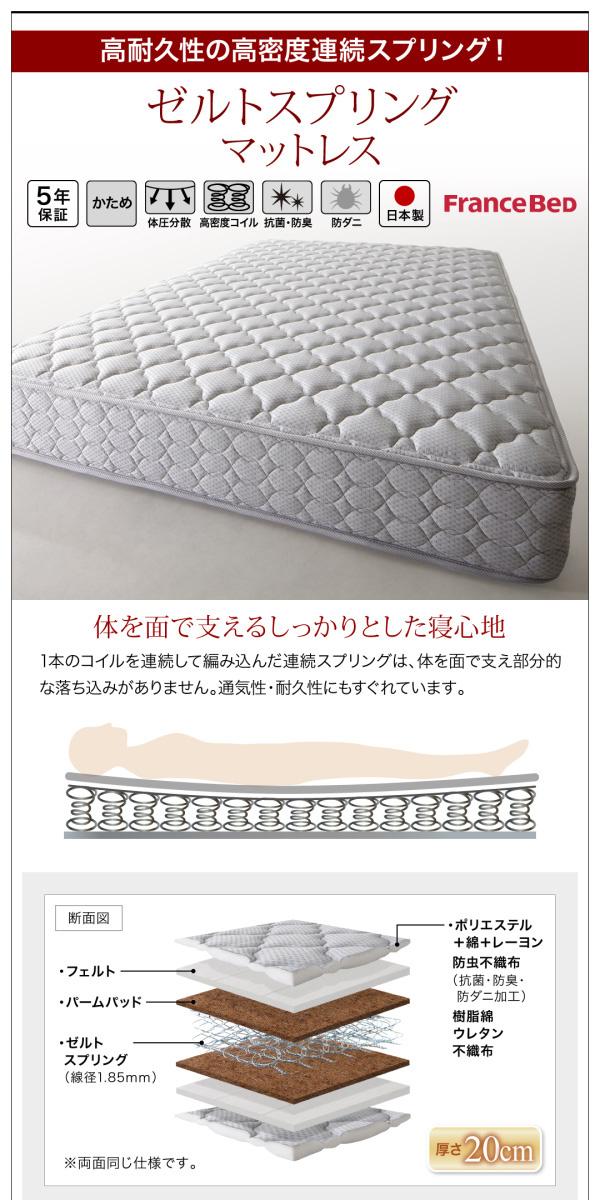 国産大容量跳ね上げ収納ベッド【BERG】ベルグ:商品説明29