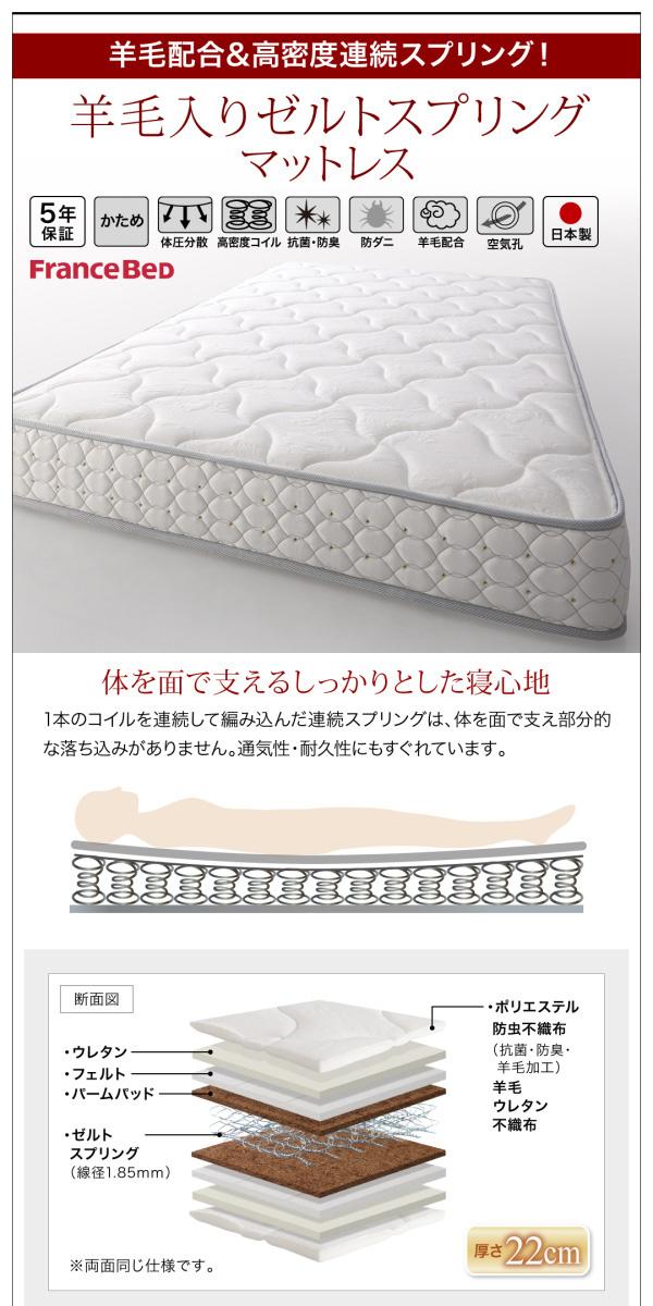 国産大容量跳ね上げ収納ベッド【BERG】ベルグ:商品説明31