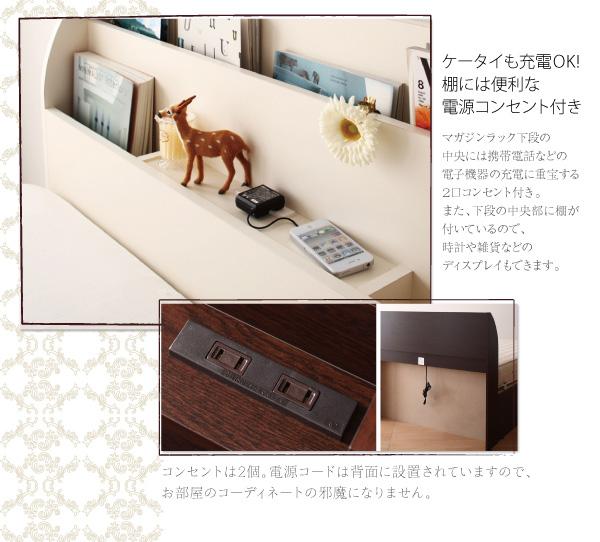 ガス圧式跳ね上げ収納ベッド【Blume】ブルーメ:商品説明4
