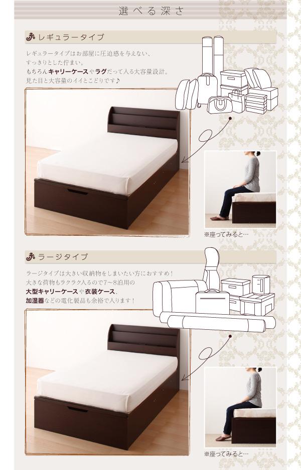 ガス圧式跳ね上げ収納ベッド【Blume】ブルーメ:商品説明6