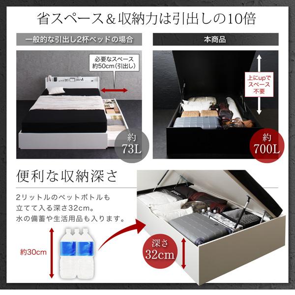 跳ね上げ式ベッド【Fermer】フェルマー:商品説明4