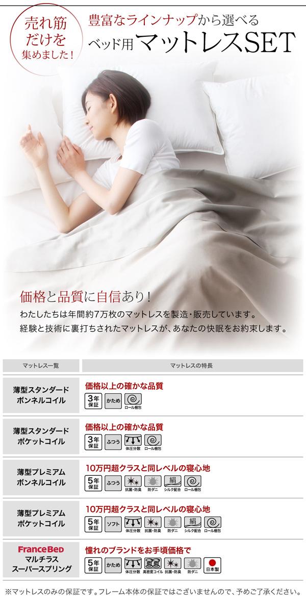 跳ね上げ式ベッド【Fermer】フェルマー:商品説明14