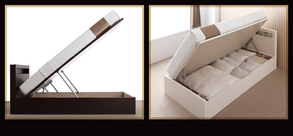 跳ね上げ収納ベッド【Grand L】グランド・エル:商品説明2