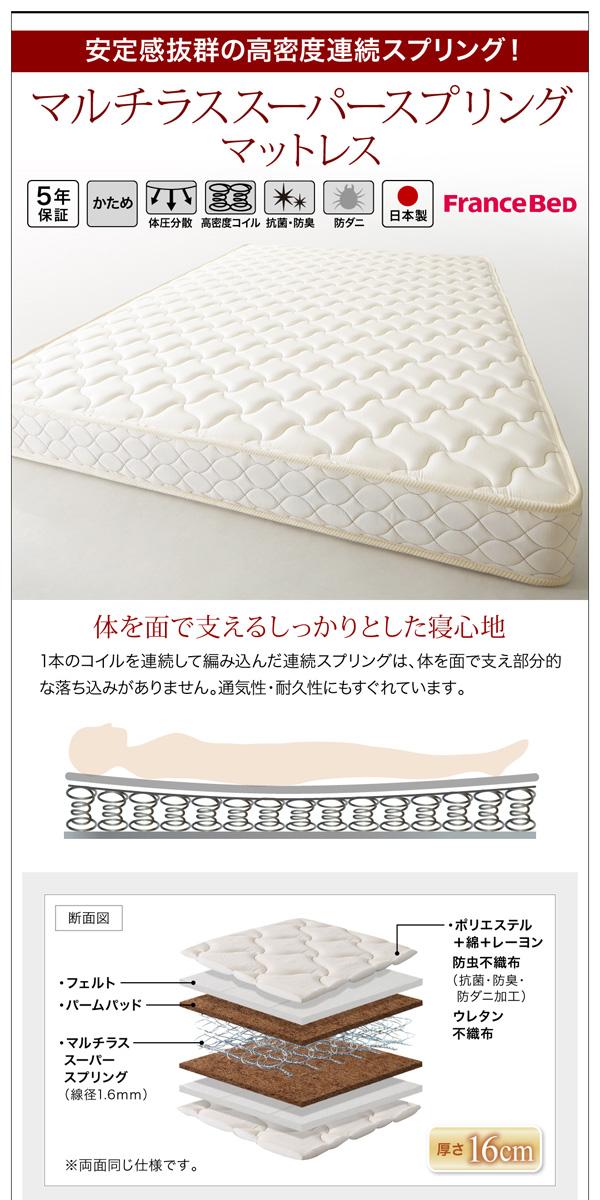 跳ね上げ収納ベッド【Grand L】グランド・エル:商品説明21