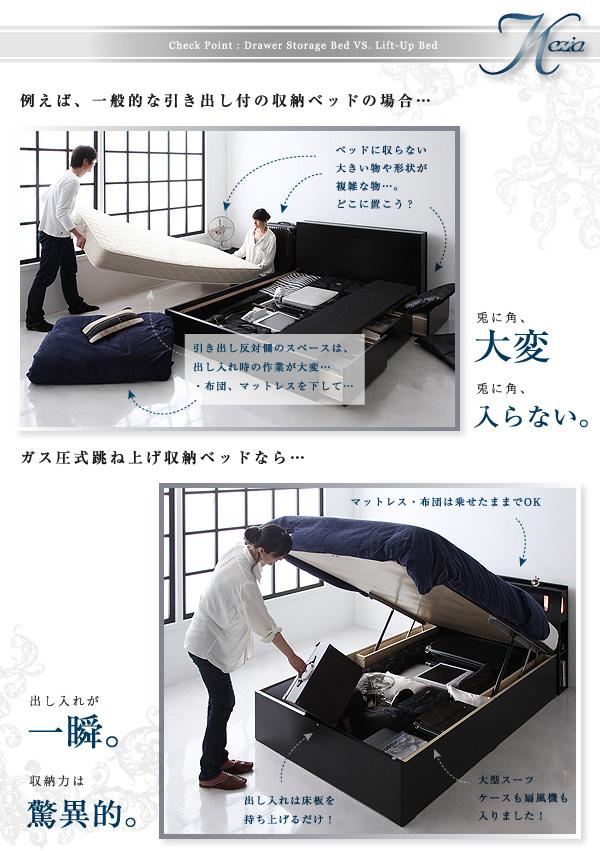 ガス圧式跳ね上げ収納ベッド【Kezia】ケザイア:商品説明6