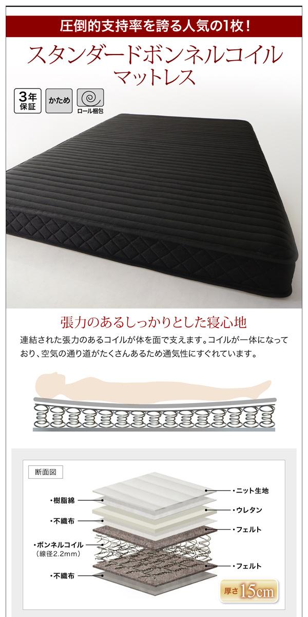 ガス圧式跳ね上げ収納ベッド【Kezia】ケザイア:商品説明19