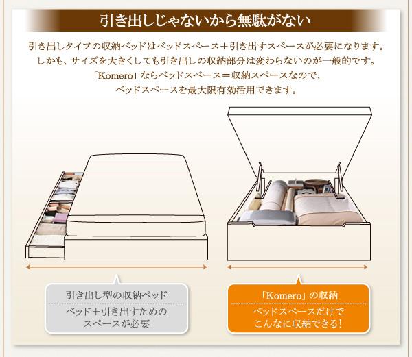 大容量畳跳ね上げベッド【Komero】コメロ:商品説明12