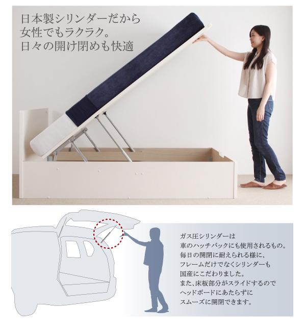 大容量跳ね上げベッド【Mulante】ムランテ:商品説明7