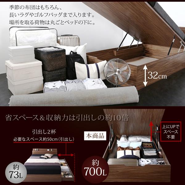 跳ね上げ式ベッド【Novia】ノービア:商品説明4