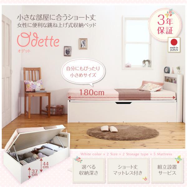 ショート丈収納ベッド【Odette】オデット:商品説明1