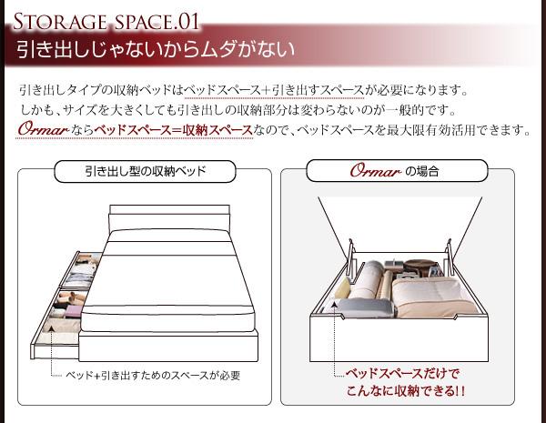 大容量跳ね上げベッド【ORMAR】オルマー:商品説明7