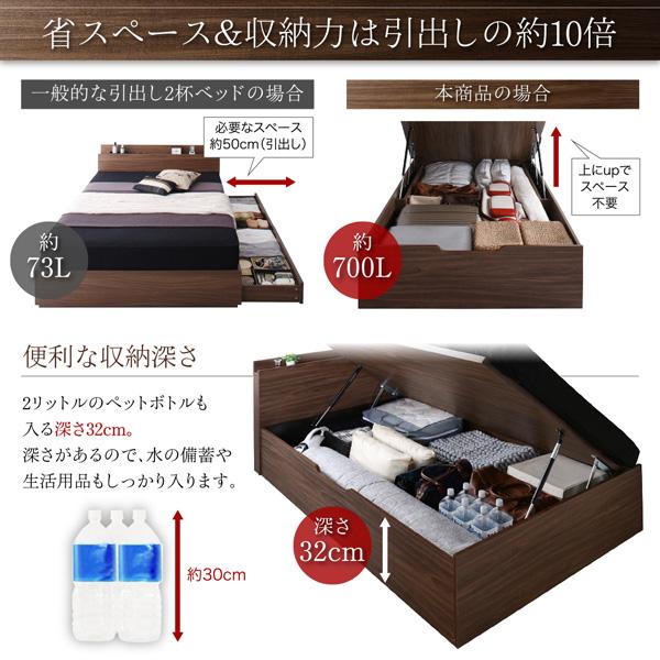 跳ね上げ式ベッド【Ostade】オスターデ:商品説明5