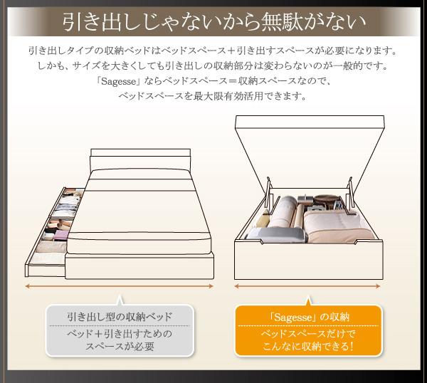 大容量畳跳ね上げベッド【Sagesse】サジェス:商品説明13