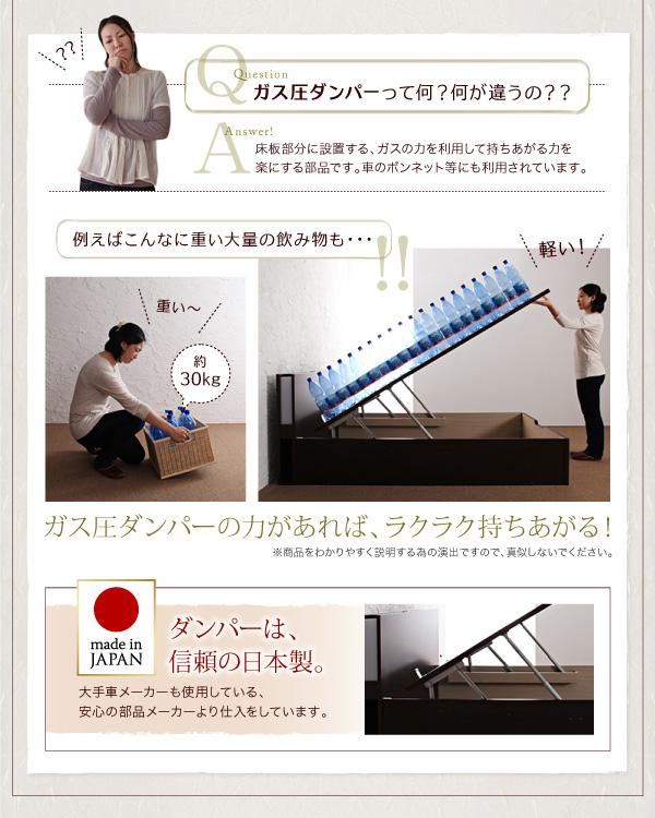 ガス圧式跳ね上げ収納ベッド【夕月】ユフヅキ:商品説明9